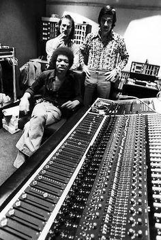 Jimi Hendrix at Electric Ladyland Recording Studio, Greenwich Village, NYC