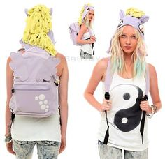 NWT LICENSED MY LITTLE PONY MLP DERPY HOOVES HOODIE HOODED COSTUME BACKPACK BAG
