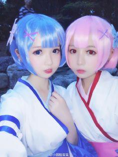 re:zero (ram & rem) cosplay. Kawaii Cosplay, Anime Cosplay, Ram And Rem, Re Zero, Kawaii Girl, Cute Faces, Kara, Cute Girls, Otaku