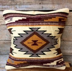 Pueblo Palace Southwest Wool Accent Pillow - SO MANY STYLES TO CHOOSE FROM AND UNDER $30! - www.gugonline.com