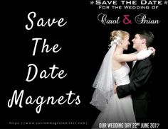 Fantastic way for your loved ones to remember your wedding date! #savethedate #wedding #magnets #bigday #freeshipping