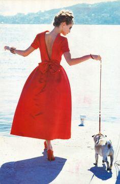 Karen Mulder in Flamboyant | Vogue Italia October 1991 (photography: Ellen von Unwerth, styling: Alice Gentilucci)