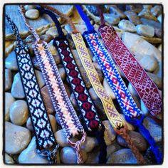 Friendship bracelets with Latvian symbols