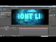 How to make an Intro in Adobe After Effects CS5 (No Plugins) -w/Motion and Lighting effects
