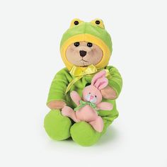 Plush Bear In Frog Costume - OrientalTrading.com 7.25 each