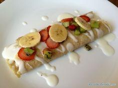 Aprende a preparar crepes de frutas y yogur con esta rica y fácil receta.  Los crepes de fruta y yogur son ideales para disfrutar a la hora del desayuno. Esta receta...