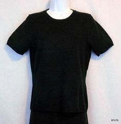Impluse Casual Crew Neck Short Sleeve Pullover Sweater Women's Size S 6- 8 Black NEW www.bevsthisnthatshop.com