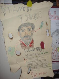 Spanish Explorers wanted poster lesson from- Mr. Picon Kathy Binks Elementary School- 4th grade