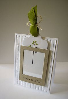 how does she come up with these amazing ideas?? -- blooming tree tag