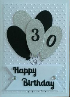 Male 30th Birthday Card - Handmade by Cathy