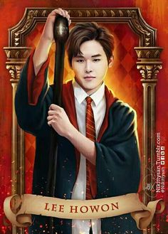Infinite Goes to Hogwarts by Nikittysan ∞ on ArtStation. Infinite Band, Hoya Infinite, Kim Myungsoo, Lee Sungyeol, Year Of The Tiger, Boy Idols, Kpop Drawings, Francisco Lachowski, Woollim Entertainment