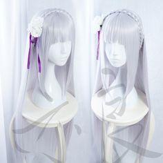 $17.89 (Buy here: https://alitems.com/g/1e8d114494ebda23ff8b16525dc3e8/?i=5&ulp=https%3A%2F%2Fwww.aliexpress.com%2Fitem%2F100cm-Long-Straight-Re-Life-in-a-Different-World-from-Zero-Wig-Emilia-Silver-Purple-Anime%2F32679264000.html ) 100cm Long Straight Re: Life in a Different World from Zero Wig Emilia Silver Purple Anime Cosplay Wigs Cap for just $17.89