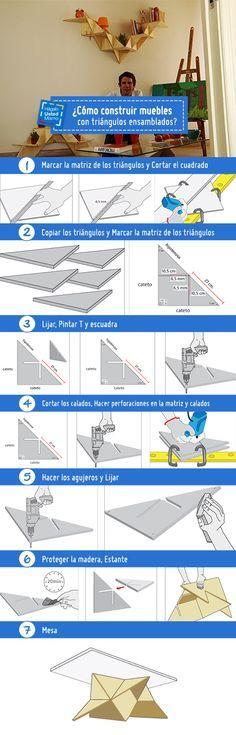 Los triángulos ensamblados son una manera creativa de fabricar muebles. ¡Quédate pendiente a este Hágalo Usted Mismo y fabrica muebles con ellos! #HágaloUstedMismo #HUM