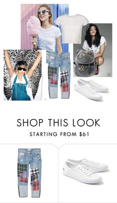 """""""Untitled #530"""" by milica-filipovic-383 ❤ liked on Polyvore featuring MANGO and Lacoste"""
