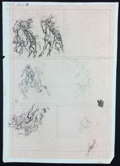 "Tisselli, Sergio - sketch for ""Tex Willer"" - W.B."
