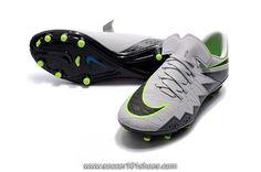 Nike Mens Hypervenom Phinish Neymar FG Football Shoes Soccer Cleats White Grey $76.00