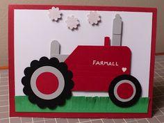 Farmall Tractor Card