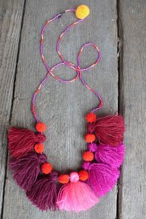 Tassel necklace by studiodeseo
