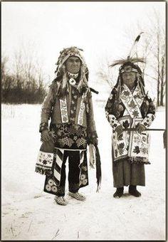 Jack King and his wife - Ojibwa - 1931