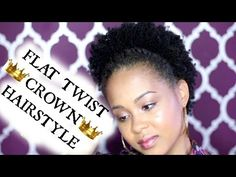 Flat Twist Crown Natural Hairstyle ✿ How to Style Natural Hair Tutorial ✿ Kimmy Boutiki - YouTube