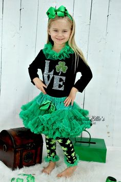 Kirei Sui Girls Pink Green Pettiskirt Happy ST Patricks Day Tank Top
