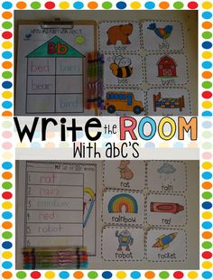 Write the Room with ABC's is a great activity to use in your classroom throughout the whole year.  Students will work on reading, sounds, letter identification and writing in this one unit.  This unit comes with printables for each of the major seasons and letter cards for all letters (even short and long vowel sounds) and ch, th and sh sounds.