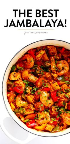 Hands-down the best jambalaya recipe! It is surprisingly easy to make customizable with your favorite proteins (I used chicken shrimp and Andouille sausage) and full of bold zesty Cajun flavors that everyone will love. Cajun Recipes, Seafood Recipes, Chicken Recipes, Cooking Recipes, Healthy Recipes, Haitian Recipes, Easy Cooking, Louisiana Recipes, Donut Recipes