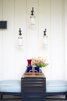 Small Patio Ideas for Your Outdoor Space - Home Improvement Blog – Hanging Mason Jar Tea Holder