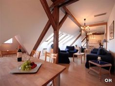 Rustic wooden beams in a #Prague apartment. Help Mike & Jess become @GowithOh's new travel bloggers & @GowithOh to Prague, where they'll stay in an amazing apartment like this. It only takes two clicks! http://clicktotweet.com/B502D