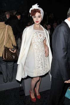Fan Bing Bing attends the Louis Vuitton Ready-To-Wear Fall/Winter 2012 show as part of Paris Fashion Week on March 7, 2012 in Paris, France.