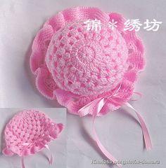 Pink Baby Ruffle Hat free crochet graph pattern