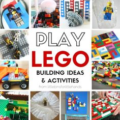Amazing LEGO activities you can really do at home or school. LEGO activities and LEGO STEM challenges for young kids using many basic bricks.