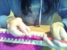 Tejido en Telar: Como cerrar una bufanda