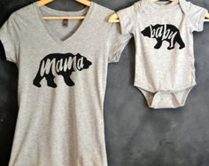 Mommy and Me Shirt Package, Baby Bumblebee, Mommy and Baby Set, Mama Bear, Baby…
