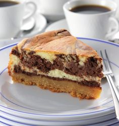 A beautifully marbled treat with a #chocolate, #coffee and #rum filling, this #tart is a combination of #tiramisu and a baked #cheesecake.