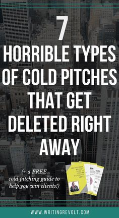 Don't waste time writing cold pitches that get deleted. This post will show you screenshots of the WORST cold emails so you can learn from their mistakes and win freelance writing work! Check it out :)