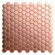 Mosaïque cuivre/copper hexagonale 30 x 30 cm Kosuke - CASTORAMA
