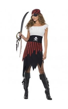 Disfraz de moza pirata