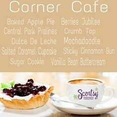 Corner Cafe Spring/Summer 2015 #Scentsy Order online and it will ship directly to your house https://lisarucker.scentsy.us