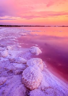 Las Salinas de Torrevieja, two salty lakes in Torrevieja, Spain that happen to be pink!