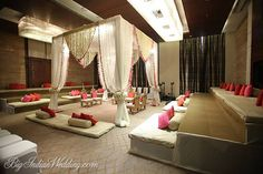 Rohit Bal Luxury Weddings elegant wedding mandap