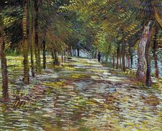 Vincent van Gogh Avenue in the Voyer d'Argenson Park at Asnieres painting is shipped worldwide,including stretched canvas and framed art.This Vincent van Gogh Avenue in the Voyer d'Argenson Park at Asnieres painting is available at custom size. Vincent Van Gogh, Paul Gauguin, Claude Monet, Desenhos Van Gogh, Van Gogh Arte, Artist Van Gogh, Oil Canvas, Mary Cassatt, Van Gogh Paintings