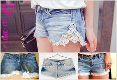 Glamour e Glacê: DIY: Shorts Jeans com Bordado