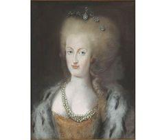 Maria Antonietta in un ritratto a pastello - autore