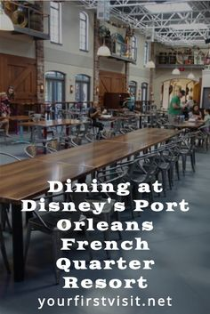 Disney World Resorts: Disney's Port Orleans French Quarter Resort - a look at the dining options you'll find there from yourfirstvisit.net | #DisneyWorldResorts #DisneysPortOrleansFrenchQuarter #DisneyModerateResorts #DisneyWorldTips