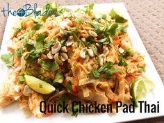 for a quick Thermomix Pad Thai that will go the distance with a big family?Looking for a quick Thermomix Pad Thai that will go the distance with a big family? Pad Thai Thermomix, Pad Thai Huhn, Asian Recipes, Healthy Recipes, Ethnic Recipes, Szechuan Recipes, Yummy Recipes, Healthy Meals, Healthy Eating