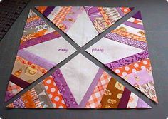 Spider Web quilt block - Tutorial. I've seen this done by a few methods. This one is pretty easy :-)