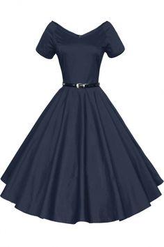 Women 1950s V-Neck Vintage Rockabilly Swing Evening Party Dress  http://shareasale.com/m-pr.cfm?merchantid=49370&userid=1422417&productid=664142664&afftrack=