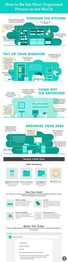 How to Be the Most Organized Person in the World, Starting Now #organization #home #office: