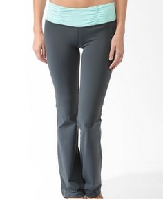 Ruched Contrast Waist Athletic   Pants